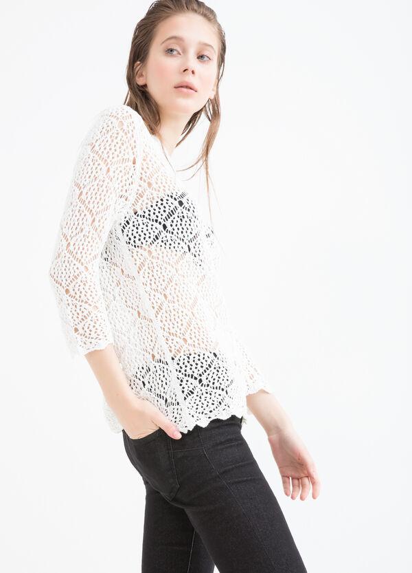 Openwork knit pullover | OVS