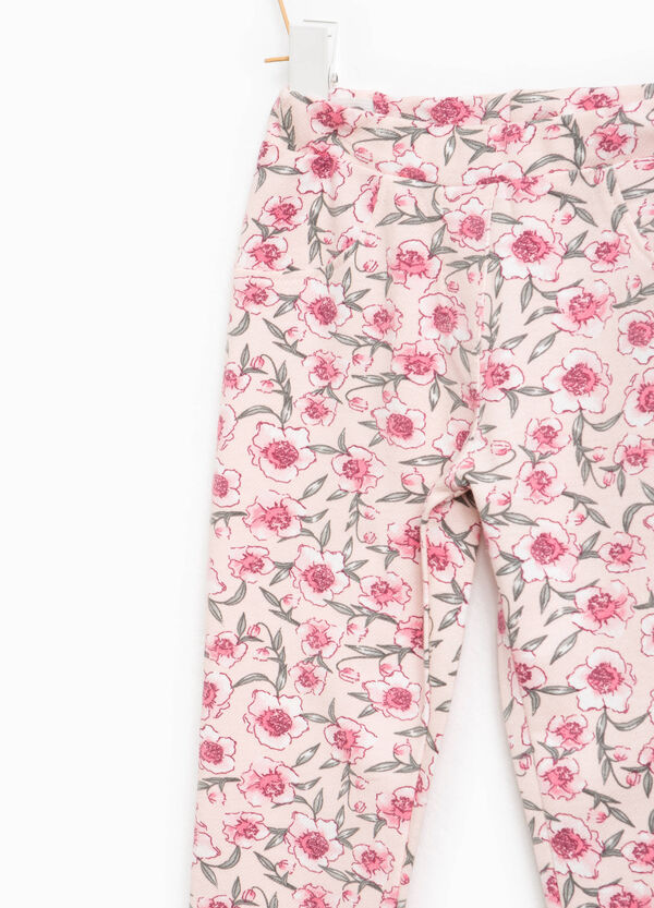 Stretch trousers with floral pattern | OVS