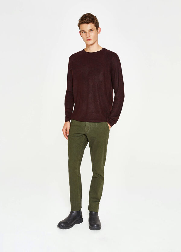 Slim fit, stretch chino trousers | OVS