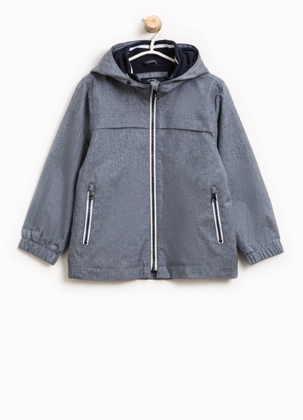 Jacket with high neck and hood. | OVS