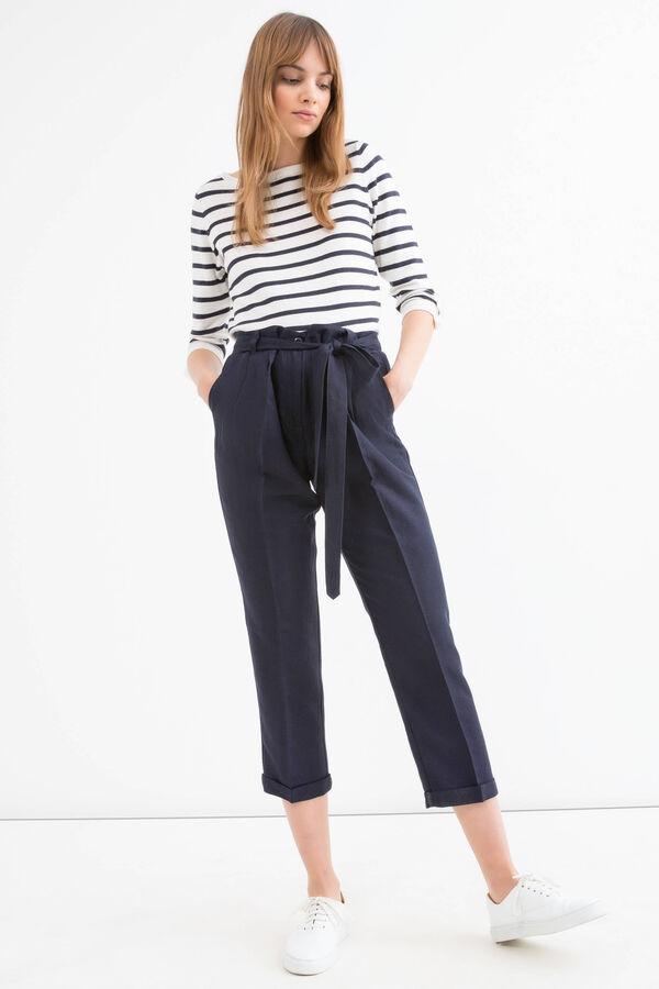 Pantaloni misto lino tinta unita | OVS