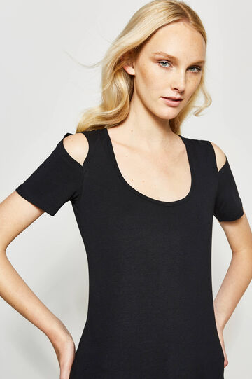 Cotton T-shirt with openings
