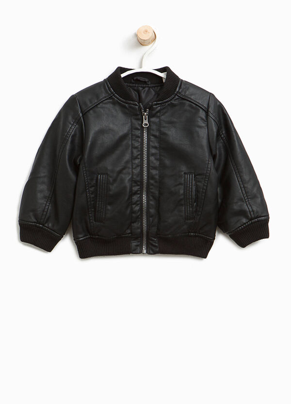 Bomber in similpelle con tasche | OVS