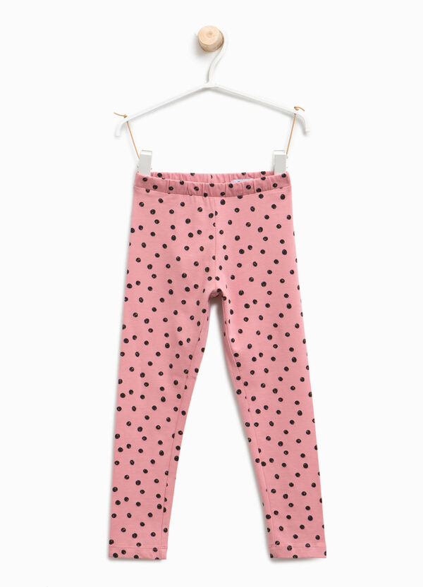 Leggings with all-over polka dot print | OVS