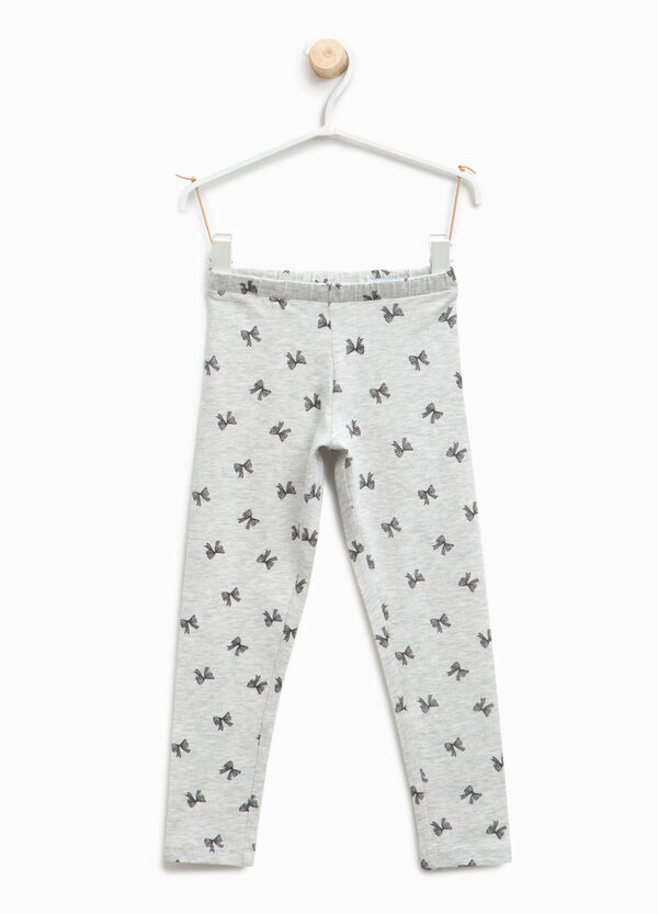 Leggings with all-over bow print | OVS