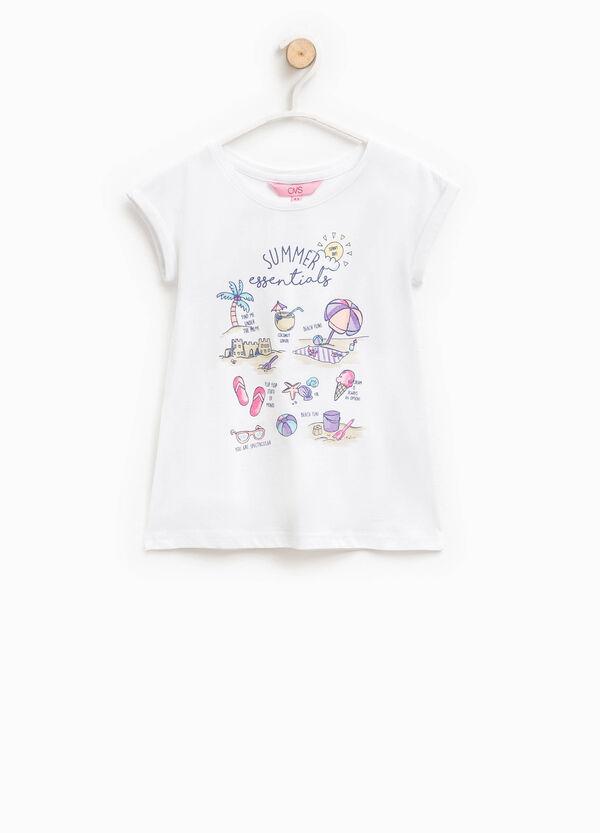 T-shirt con stampa glitterata   OVS