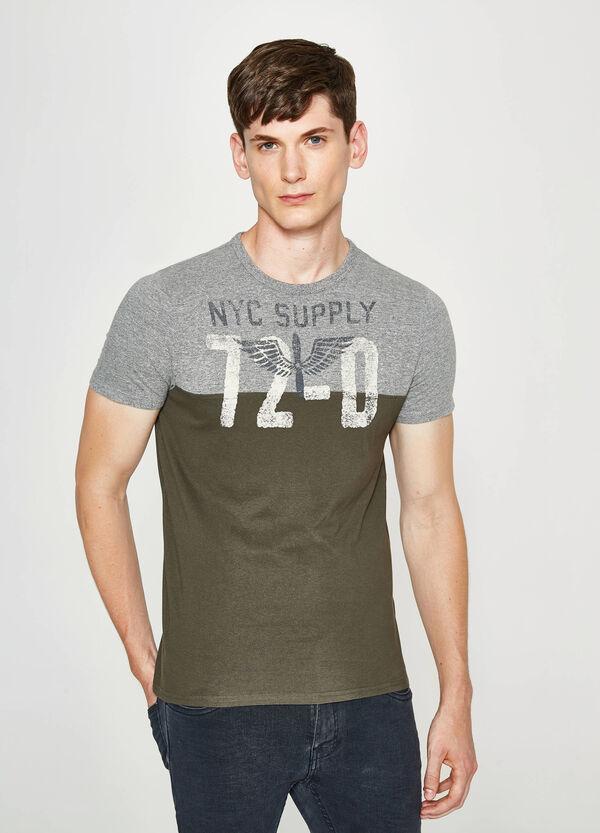 T-shirt bicolore con stampa   OVS