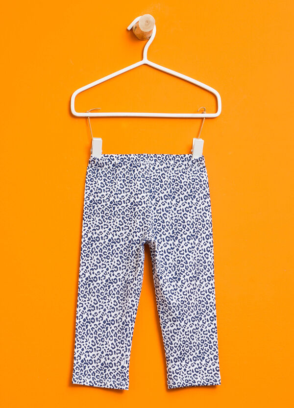 Patterned leggings in cotton | OVS