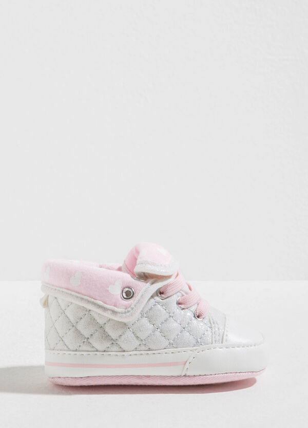 Quilted sneakers with heart pattern | OVS