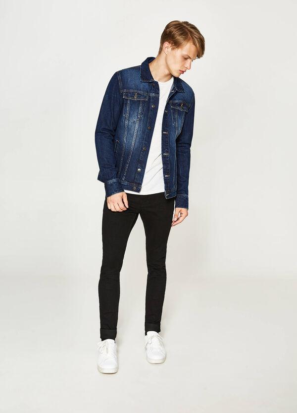 Giubbino di jeans effetto delavato | OVS