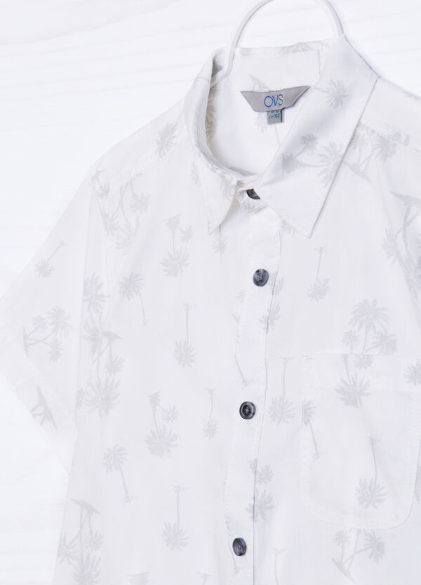 Camicia puro cotone fantasia   OVS