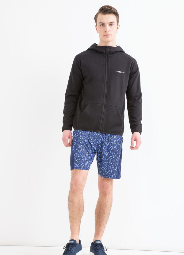 Stretch gym shorts with pattern | OVS