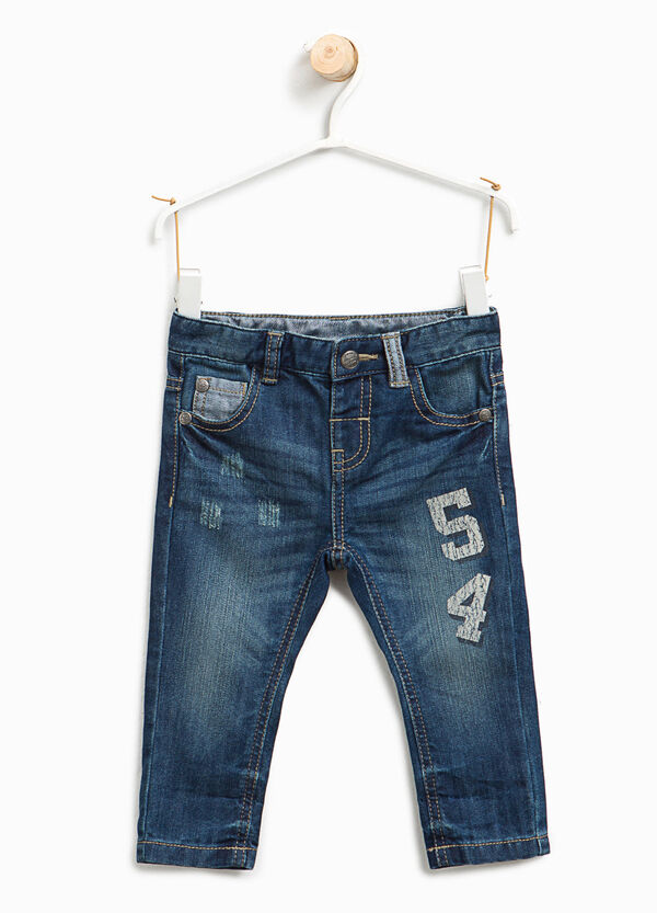 Jeans effetto used con patch | OVS