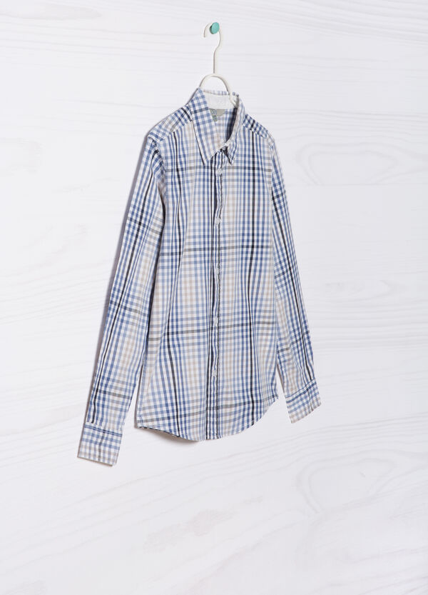 Camicia in puro cotone quadretti   OVS