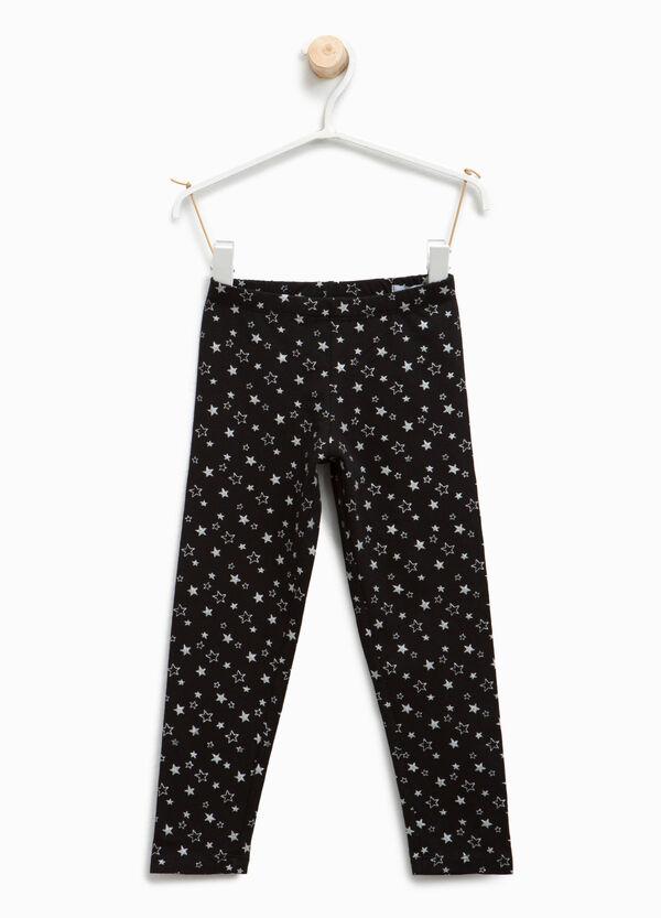 Star patterned cotton leggings | OVS