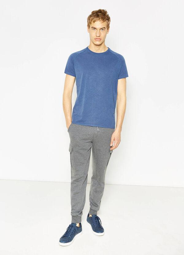 Pantaloni tuta in cotone mélange   OVS