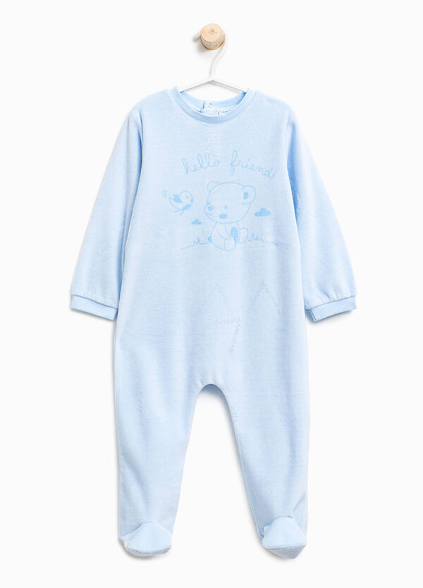 Tutina pigiama velour Better Cotton | OVS