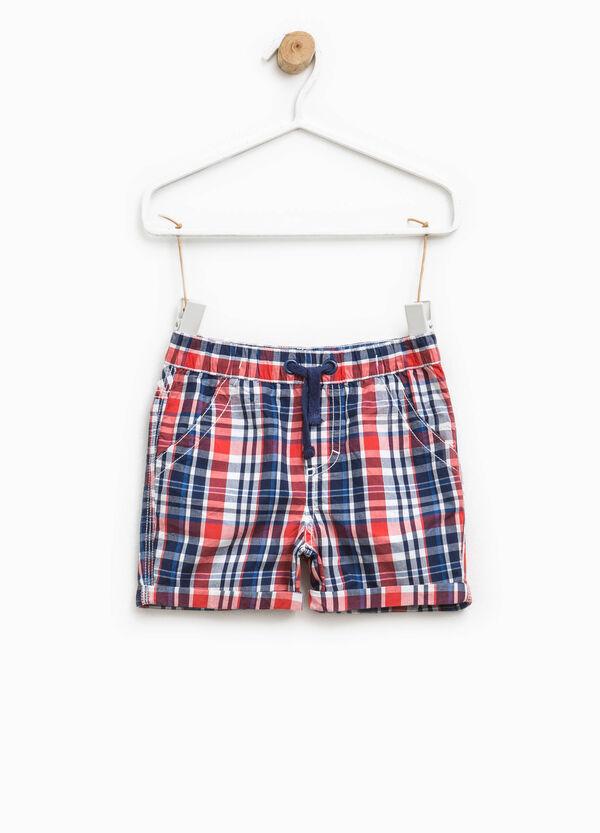 Pantaloncini in puro cotone a quadri   OVS