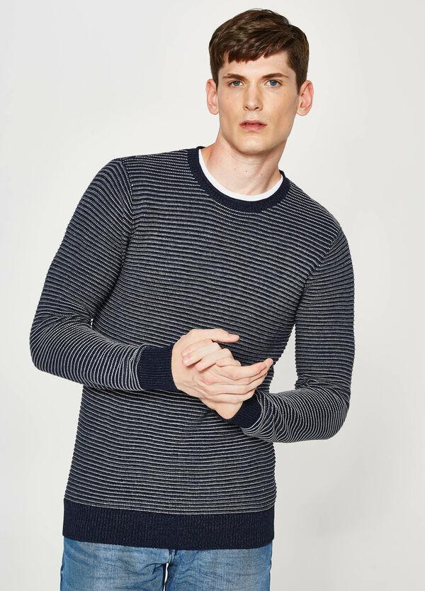 Pullover tricot in cotone a righe   OVS