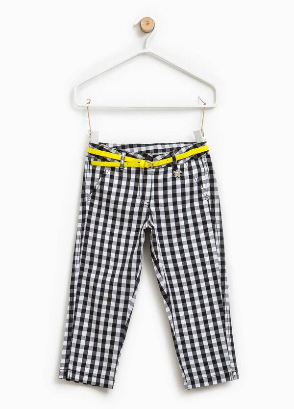 Pantaloni a quadri con patch farfalla | OVS