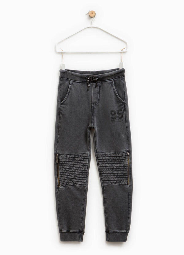 Trousers in cotton with print | OVS