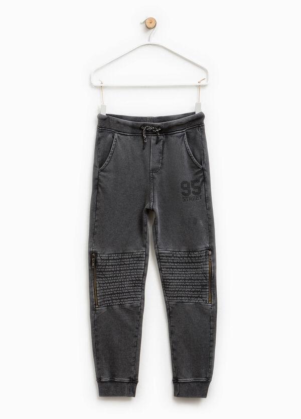 Pantaloni in cotone con stampa | OVS