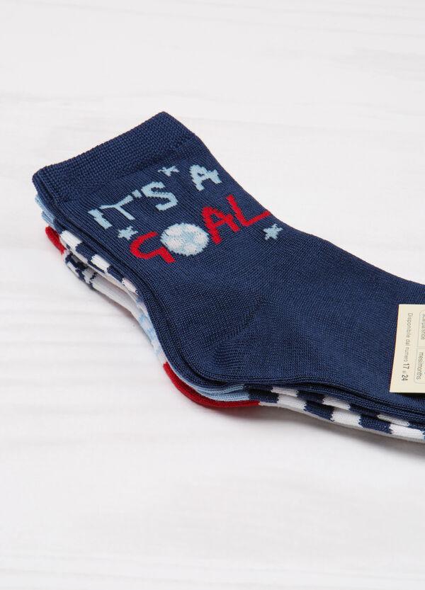 Three-pair pack cotton blend socks   OVS