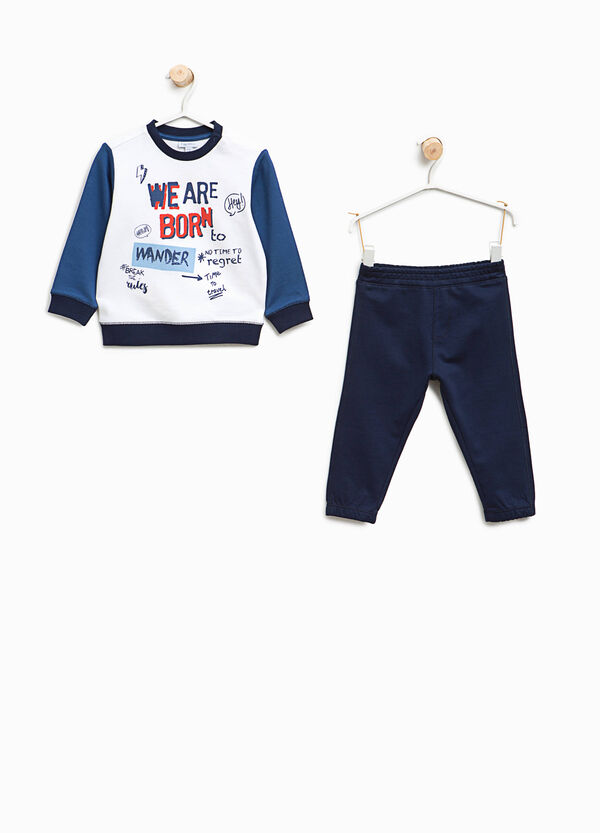 Cotton outfit with lettering print | OVS