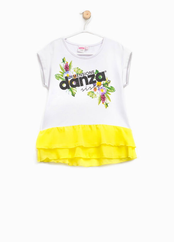 Dimensione Danza T-shirt with flounces | OVS