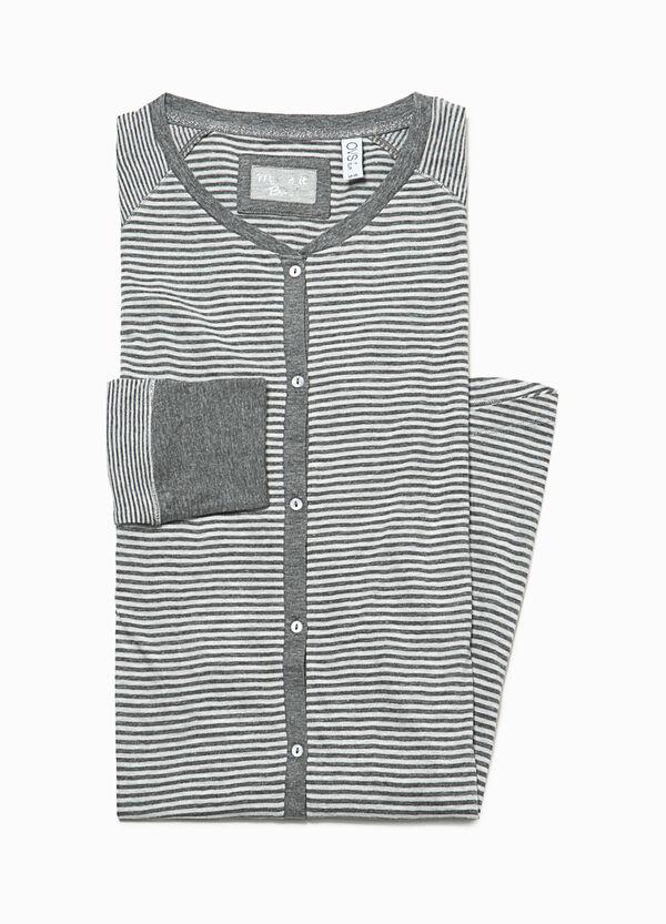 Striped cotton nightshirt | OVS