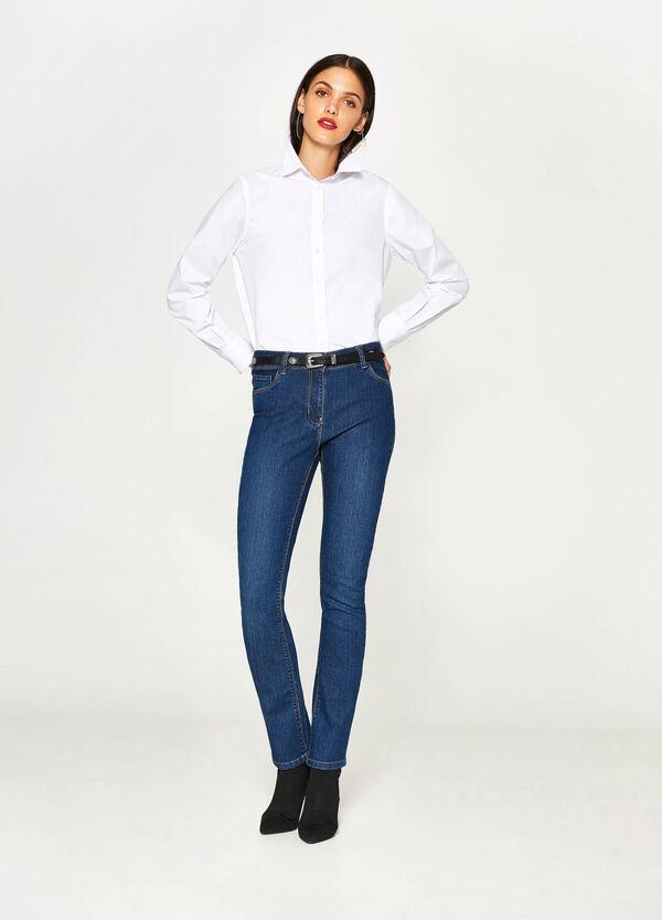 Solid colour cotton blend shirt   OVS