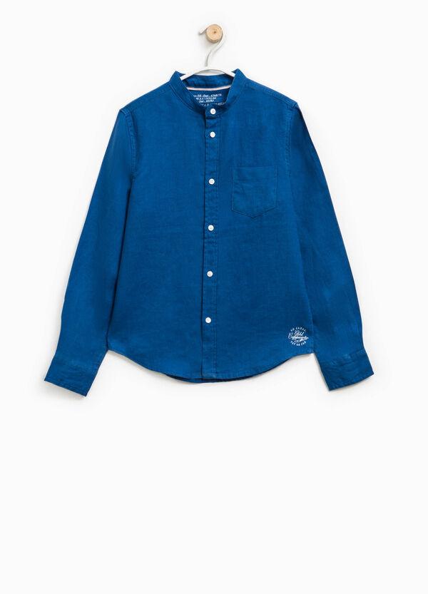 Camicia in puro lino con stampa | OVS