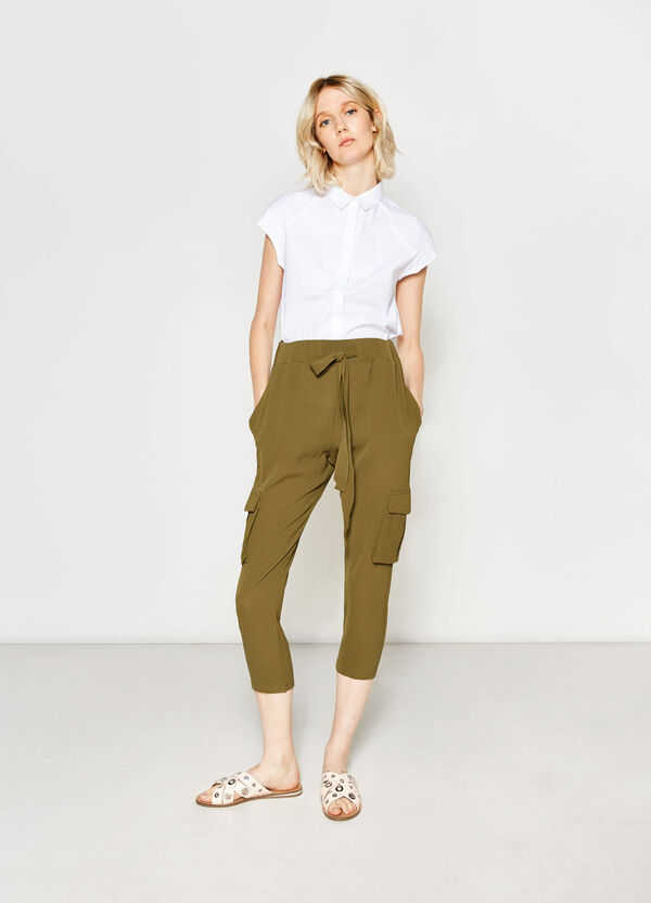 Solid colour cargo trousers | OVS
