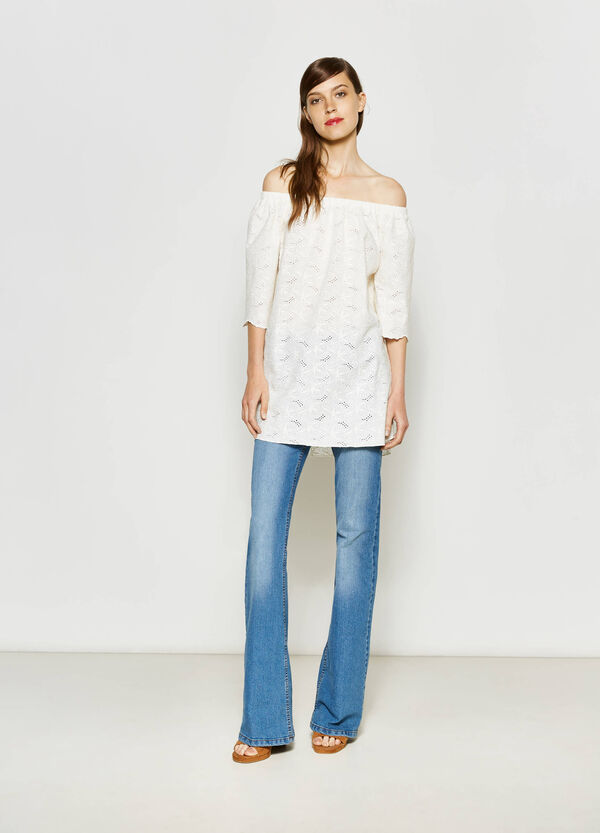 Openwork blouse with boat neck | OVS