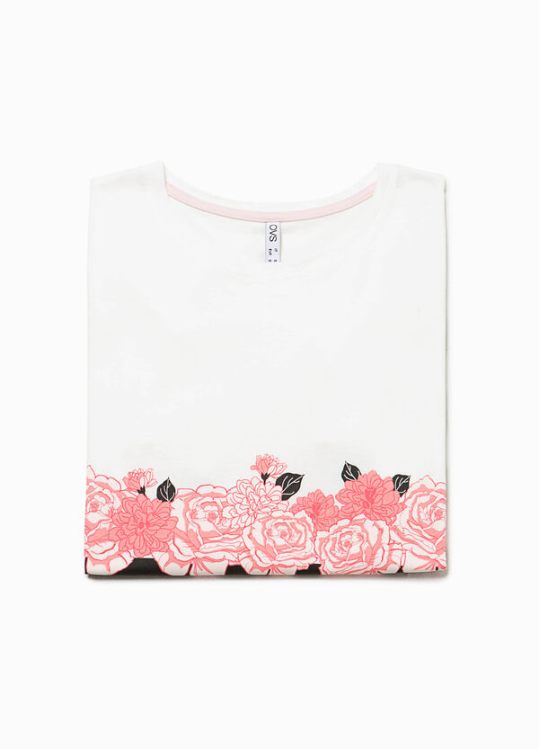 Printed pyjama top in 100% cotton | OVS