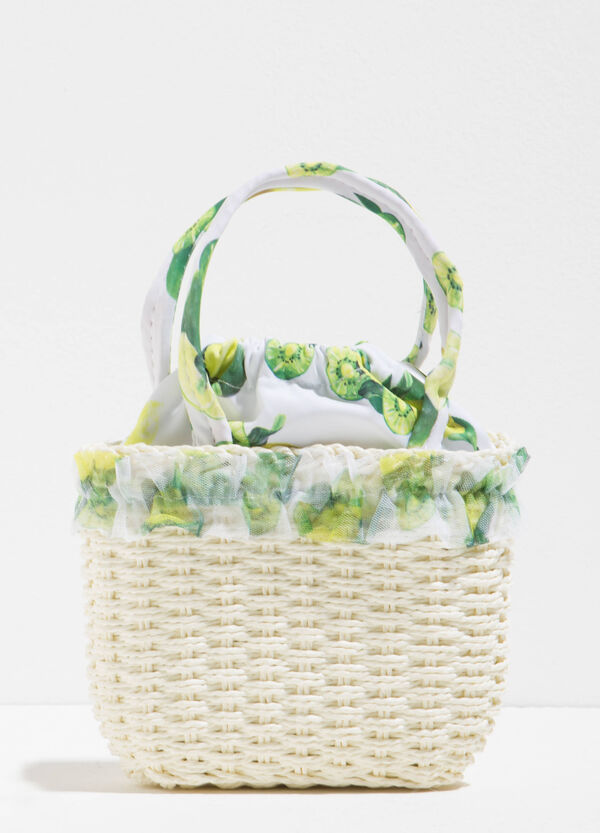 Woven handbag with fruit | OVS