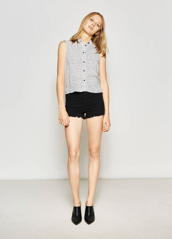 Sleeveless shirt with all-over print | OVS