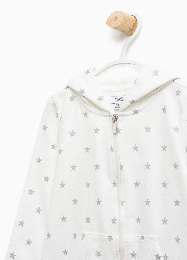 Glitter star patterned sweatshirt | OVS