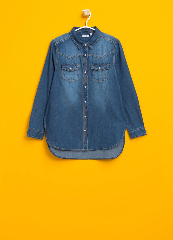 Camicia di jeans effetto delavato | OVS