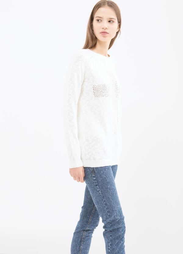 Pullover misto cotone traforato | OVS