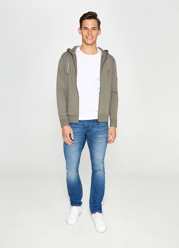Cotton hoodie with sleeve pocket | OVS