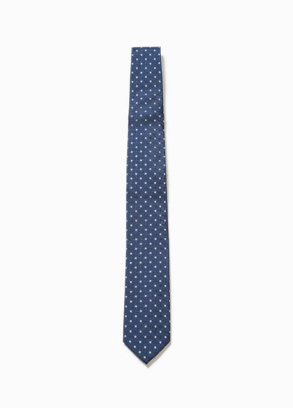 Cravatta in seta fantasia geometrica   OVS