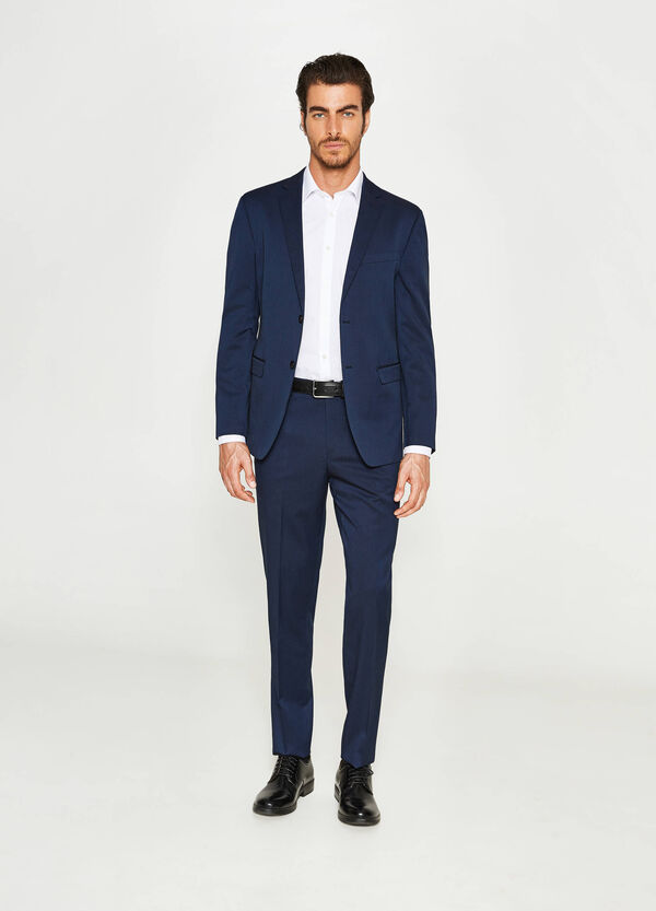 Regular-fit suit with striped weave | OVS