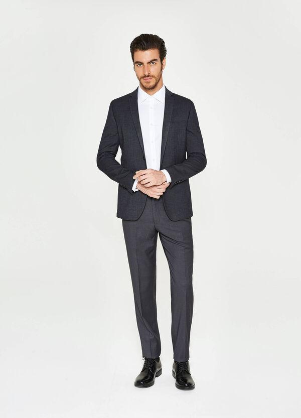 Elegant slim-fit blazer in stretch viscose | OVS