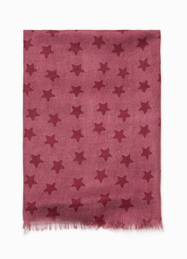 Pashmina in viscose with stars pattern | OVS