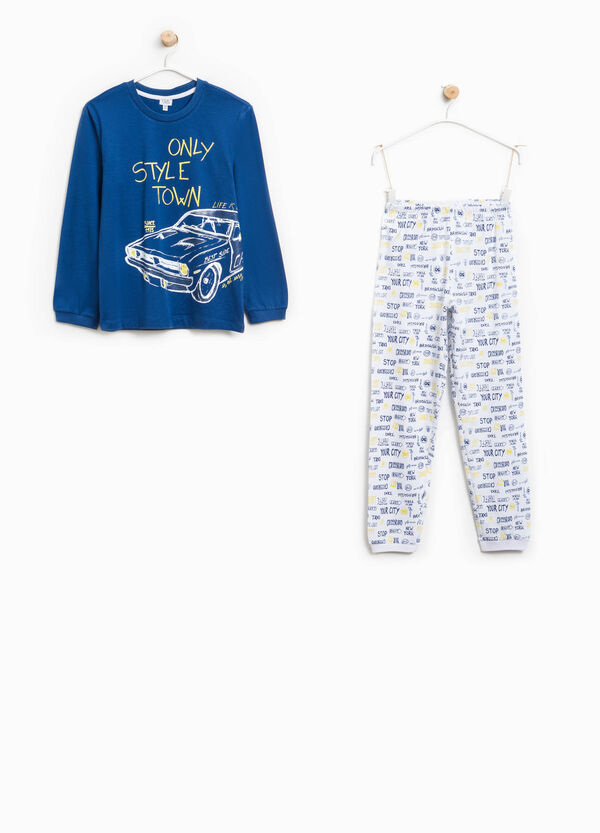 Organic cotton pyjamas with lettering pattern | OVS