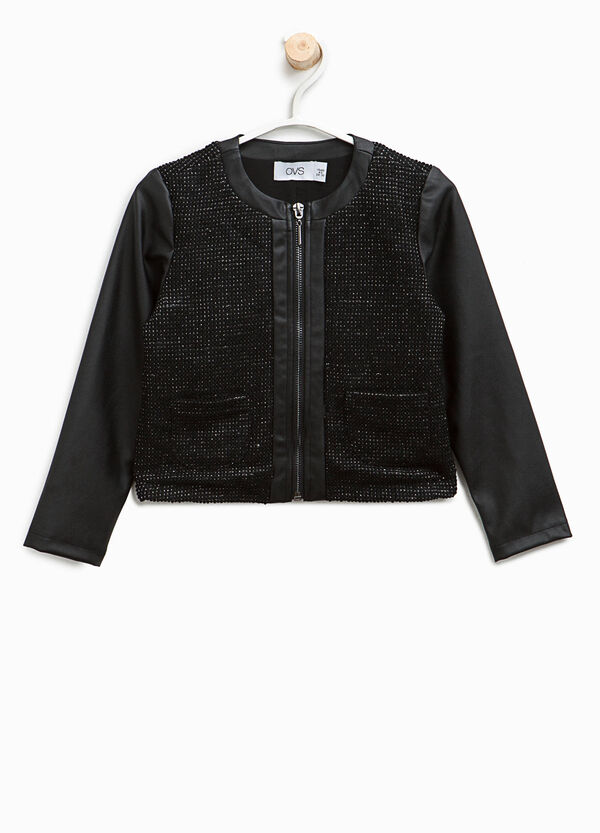 Cotton sweatshirt with raised weave | OVS