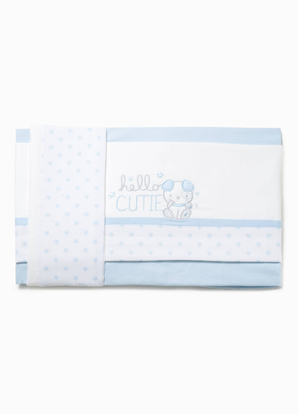 Crib sheet with animal embroidery | OVS