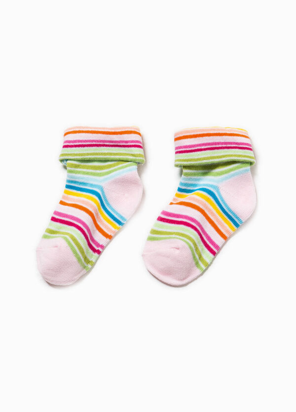 Stretch striped short socks | OVS
