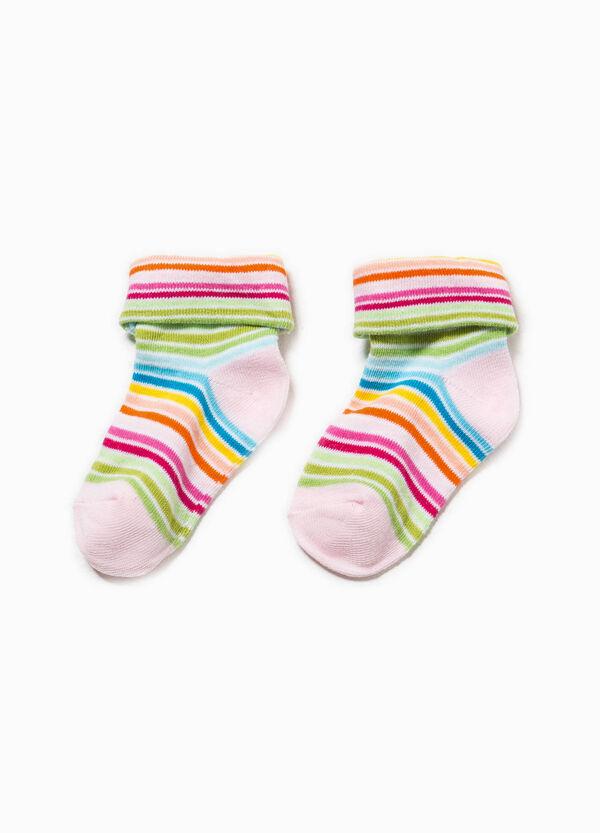 Calcetines cortos de rayas en algodón elástico | OVS